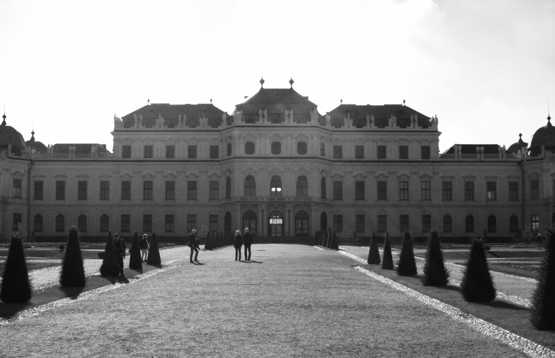 The Belvedere in Vienna - the Winter Palace which is home to Klimt's